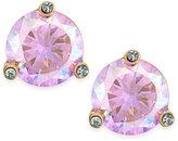Kate Spade Gold-Tone Pastel Crystal Stud Earrings