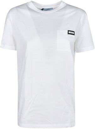 Prada Logo Patched T-shirt
