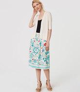 LOFT Watercolor Floral Drawstring Skirt