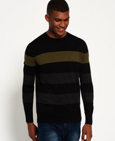 Superdry Orange Label Hoop Stripe Crew Neck Jumper