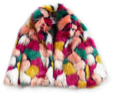 Milly Minis Faux-Fur Jacket, Multi, Size 4-7