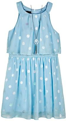 Amy Byer Girls 7-16 & Plus Size IZ Polka Dot Popover Dress