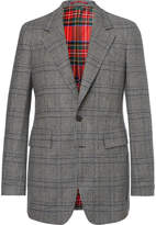 Burberry Prince of Wales Checked Wool Blazer
