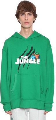 Just Don Embroidered Patch Cotton Jersey Hoodie