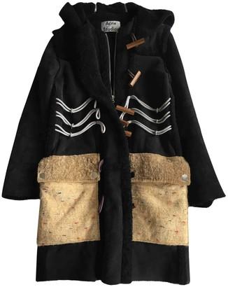 Acne Studios Navy Shearling Coat for Women