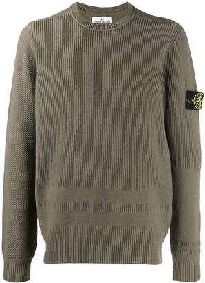 Stone Island ribbed panel jumper