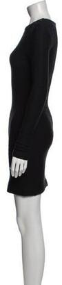 Kimberly Ovitz Crew Neck Mini Dress Black