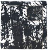 Roberto Cavalli fringed animal print scarf