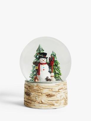 John Lewis & Partners Snowman and Tree Snow Globe