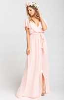 MUMU Audrey Maxi Dress ~ Frosty Pink Crisp