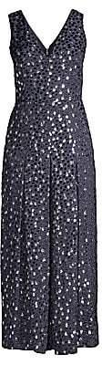 Kate Spade Women's Velvet Dotted Cropped Silk-Blend Jumpsuit