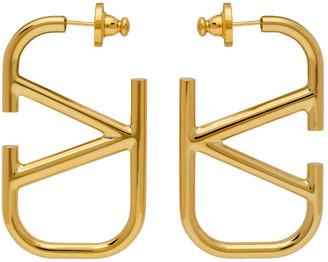Valentino Gold Garavani VLogo Hoop Earrings