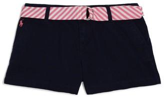 Ralph Lauren Kids Stripe Belt Chino Shorts (7-16 Years)