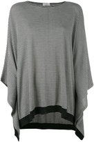 Brunello Cucinelli striped poncho sweater - women - Cashmere/Wool - M