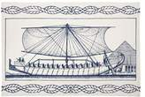 Thomas Paul Egyptian Ship Tea Towel