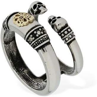 Alexander McQueen Twin Skull & Seal Ring