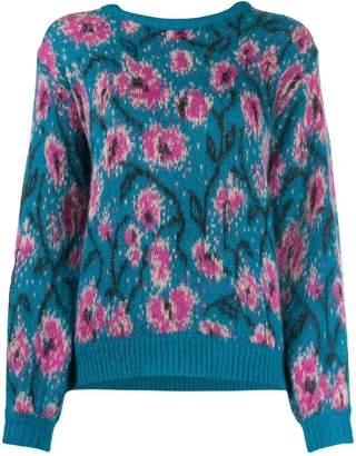 Guardaroba floral intarsia jumper