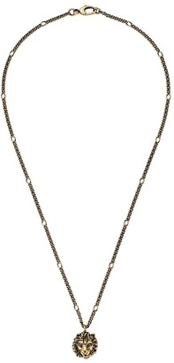 Gucci lion head pendant necklace