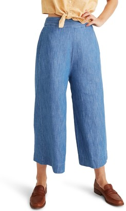 Madewell Huston Pull-On Chambray Crop Pants (Regular & Plus Size)