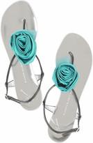 Satin rose sandals