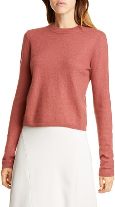 Vince Fitted Crop Cashmere Sweater