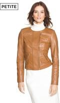White House Black Market Petite Cropped Leather Jacket