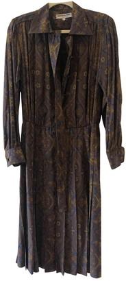 Saint Laurent Brown Silk Dresses