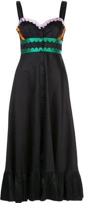 Cynthia Rowley Melita scalloped midi dress