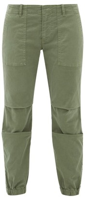 Nili Lotan Military Cropped Stretch Cotton-twill Trousers - Womens - Khaki