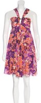 Just Cavalli Floral Print Mini Dress