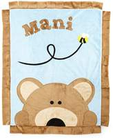 Boogie Baby Plush Peek-A-Boo Bear Blanket, Blue/Brown