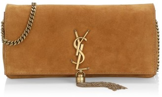 Saint Laurent Kate Tassel Suede Baguette
