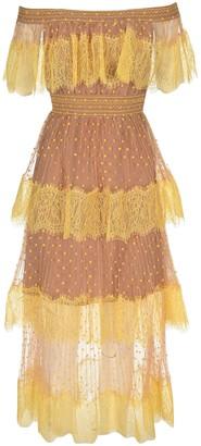 Self-Portrait Tiered Style Polka Dot Patterned Dress