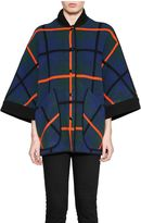 M Missoni V-neck Check Coat