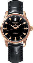 Longines L1.611.8.52.4 Conquest Heritage rose gold watch