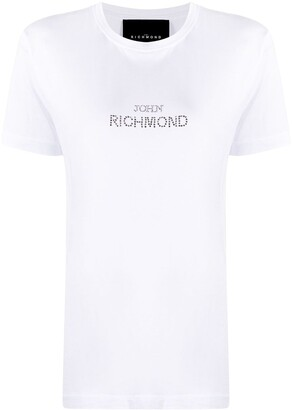 John Richmond embellished logo T-shirt
