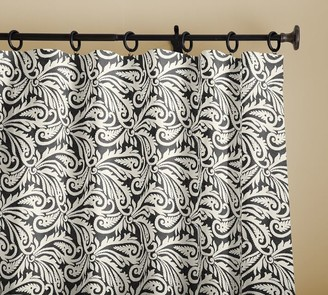 Pottery Barn Wynnfield Paisley Print Linen/Cotton Rod Pocket Curtain