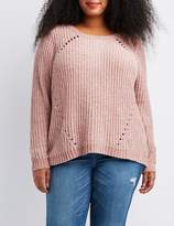 Charlotte Russe Plus Size Chenille Raglan Boyfriend Sweater