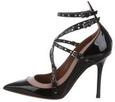 Valentino Love Latch Grommet-Embellished Pumps w/ Tags
