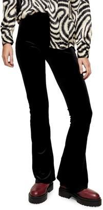 Topshop Velvet Flare Trousers