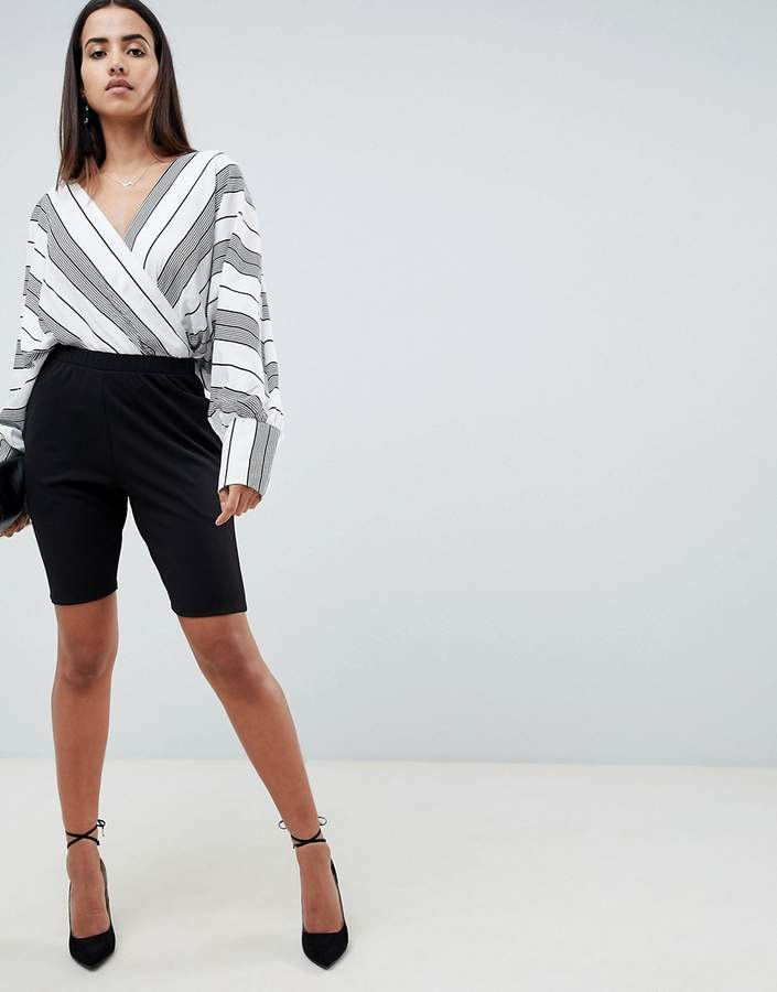 Asos DESIGN city shorts in jersey crepe
