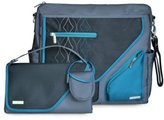 JJ Cole Metra Diaper Bag, Blue Diamond by