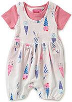 Joules Baby Girls Newborn-12 Months Ice-Cream-Printed Romper & T-Shirt Set