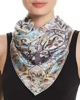 Fraas Distressed Tile Silk Square Scarf