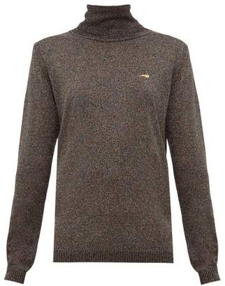 Bella Freud Bootsy Lurex Roll Neck Sweater - Womens - Black