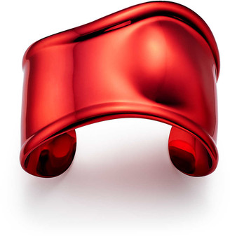 Tiffany & Co. Elsa Peretti small Bone cuff in red finish over copper, 43 mm wide
