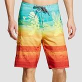 Ocean Current Men's Fiji Neon Board Shorts Orange