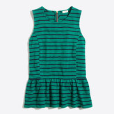 J.Crew Factory Striped peplum tank
