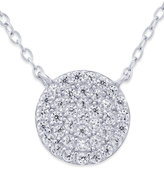 Giani Bernini Cubic Zirconia Circle Pendant Necklace (2/3 ct. t.w.) in Sterling Silver