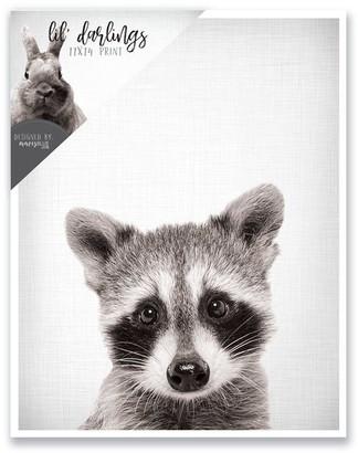 mavisBLUE Baby Raccoon Print